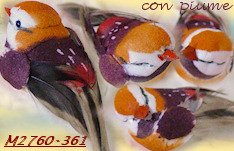 arancio viola mix colore uccellini piume materiale bonsai perline alberelli perle