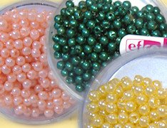 rosa salmone verde giallo sole perle di plastica cerate wax beads Efco creative emotions