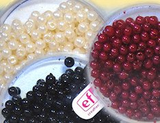 wax beads perle plastica cerate beige champagne panna nero rosso Natale Efco creative emotions